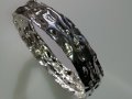 Hammered sterling silver bangle