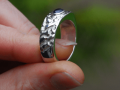 Silver clay ring