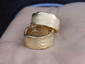 Cast cuttlefish ring in 18kt gold