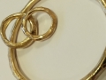 Client gold bangle and rings