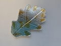 Silver leaf gold foiled during the class