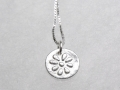 Fine-Silver-Flower-impression-on-disc-pendant