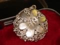 Student made petal pendant