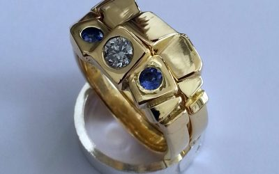 Diamond-and-tanzanite-18kt-gold-rings