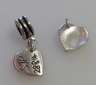 Fine silver fingerprint charms 2