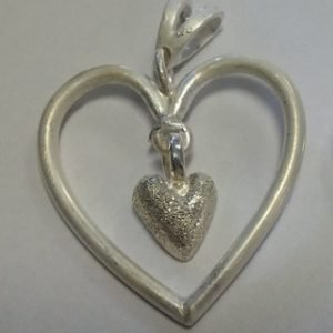 Sterling heart adaptation pendant