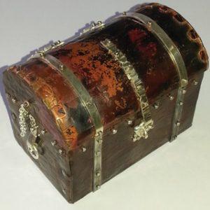Sterling silver and copper treasure chest