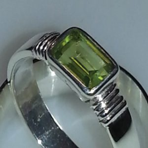 Sterling silver and peridot ring