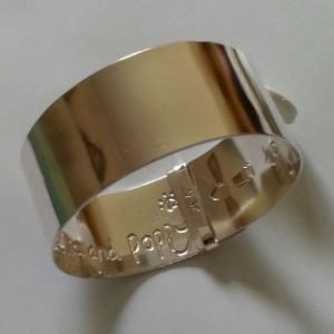 Sterling silver buckle bangle 1