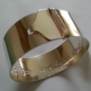 Sterling silver buckle bangle 3