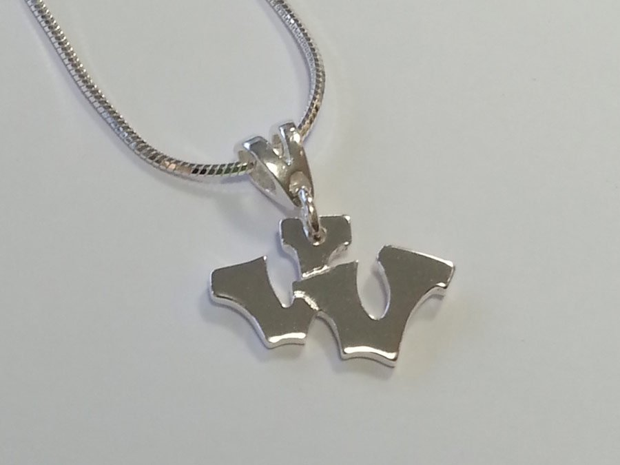 Sterling silver double v pendant