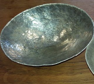 Sterling silver rice bowl during workshop