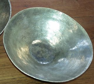 Sterling silver rice bowl made by student