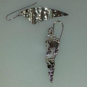 Sterling silver tempa drop earrings