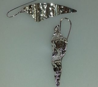 Sterling silver tempa drop earrings