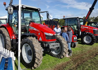 Tractors at the county show grounds