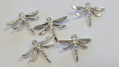 Finished dragonfly pendants