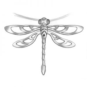 Dragonfly pendant concept drawing