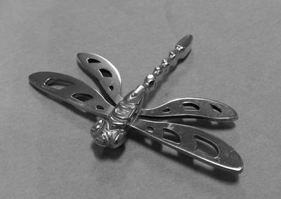 Working on the dragonfly pendant