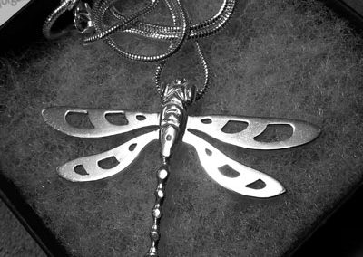 Dragonfly pendant finished