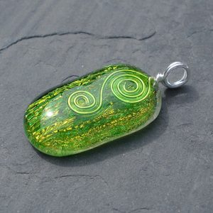 green-dichroic-glass-pendant