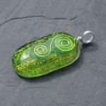 Green dichroic glass pendant