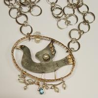 vintage style silver necklace