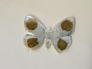 silver butterfly by student using keum boo