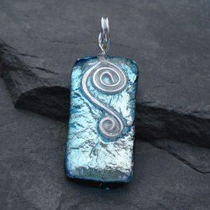 silver-dichroic-glass-pendant