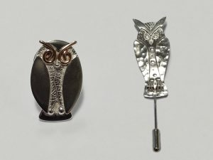 owl jewellery pins