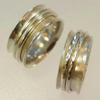 Sterling silver spinner rings
