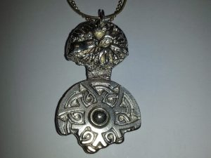 cast mayan pendant by jewellery student