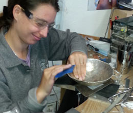 Student learning to make jewellery