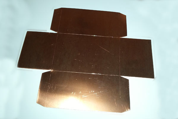 Flat base of the copper treasure chest